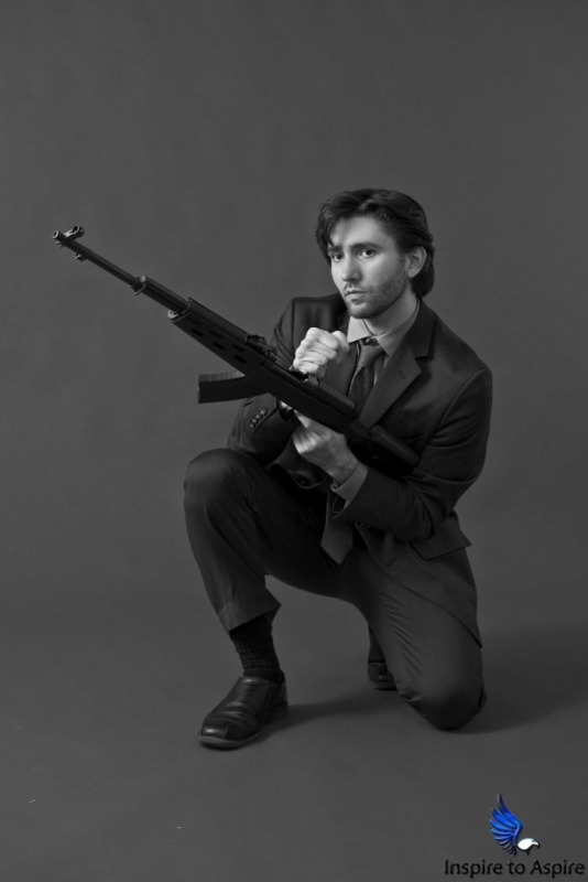 Alexander Rea, model, photographer, James Bond 007 themed shot