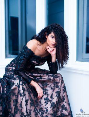 Transgender model Luna Diaz in a promo shoot for Rising Stars Fashion Show