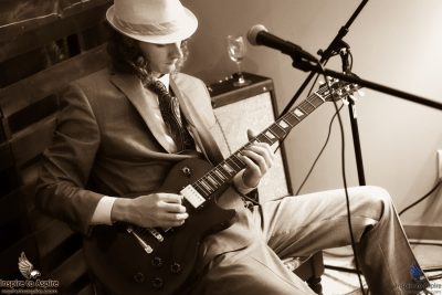 Model/Musician Joe Weiss performing live